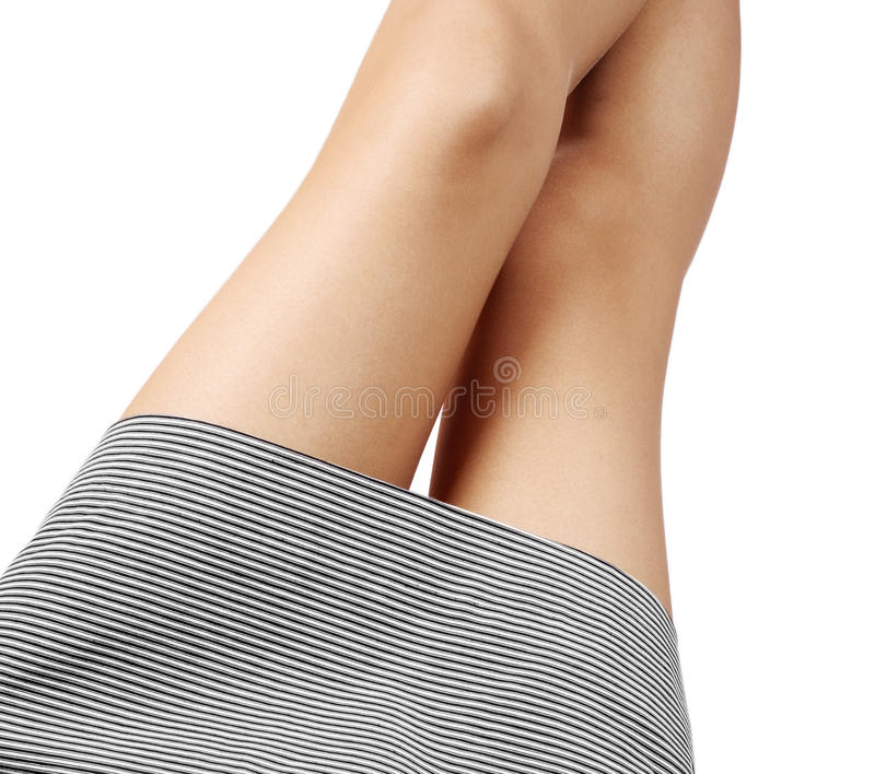 Beautiful legs. Isolated on white background royalty free stock photography