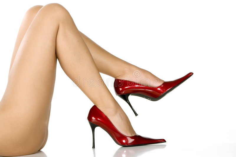 Download Beautiful Legs In Red Shoes Stock Image - Image of chic, alluring: 6188867