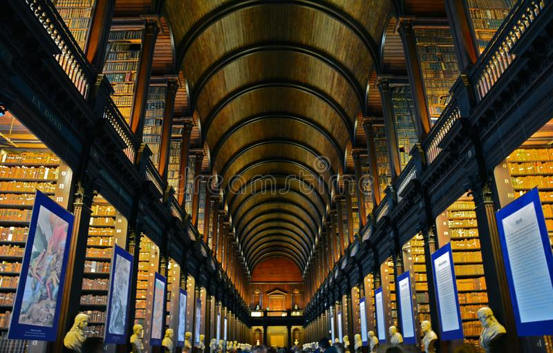 Trinity College Library in Dublin Ireland royalty free stock photos
