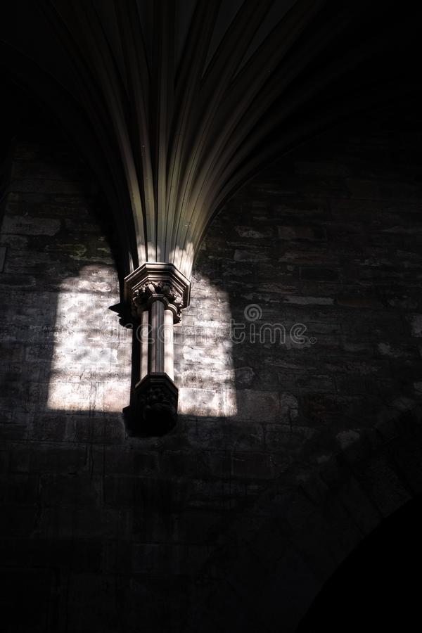 Beautiful light in the cathedral royalty free stock photos