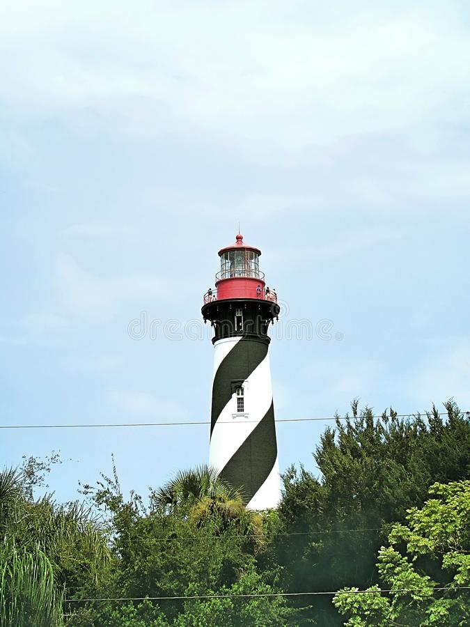 Lighthouse from afar stock image