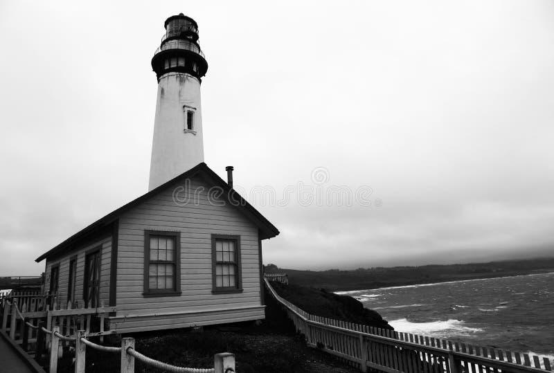lighthouse on california`s shores royalty free stock photos