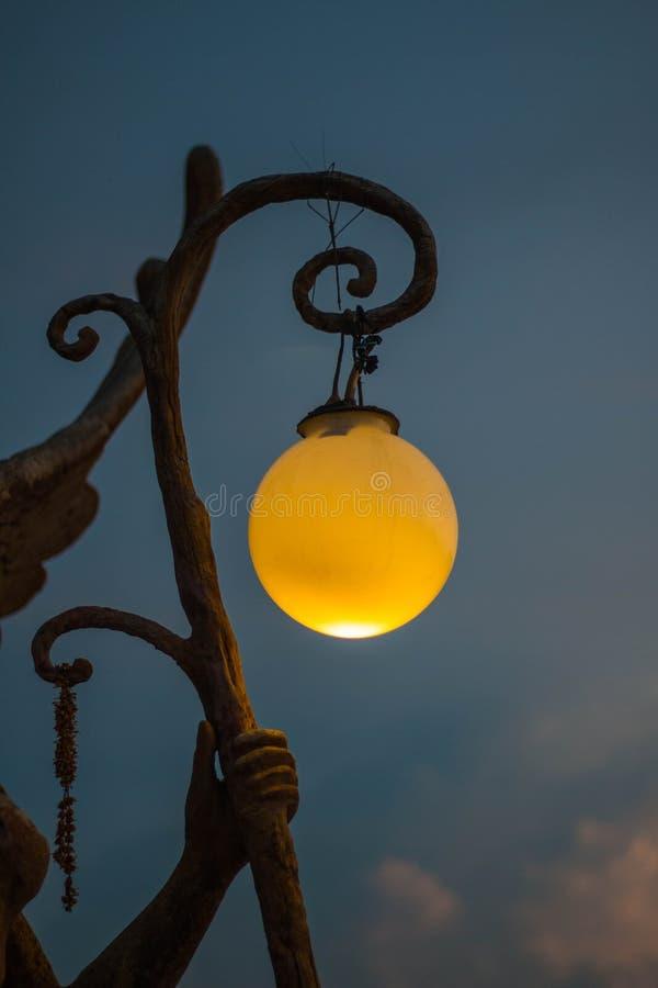 Beautiful lighting ball hanging on sky stock photos
