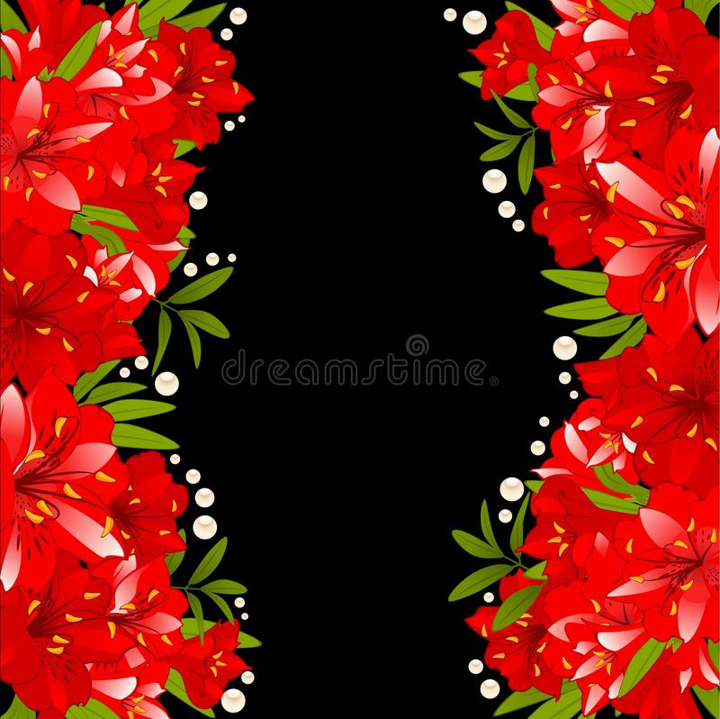 Download Beautiful Lily On The Background Stock Vector - Image: 17952807