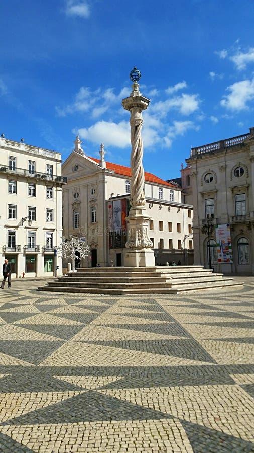 A beautiful lisbon square stock photo