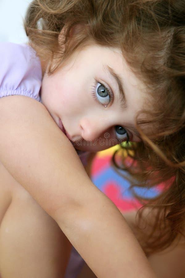 Free Beautiful Little Blue Eyes Girl Looking Camera Royalty Free Stock Photos - 9739958