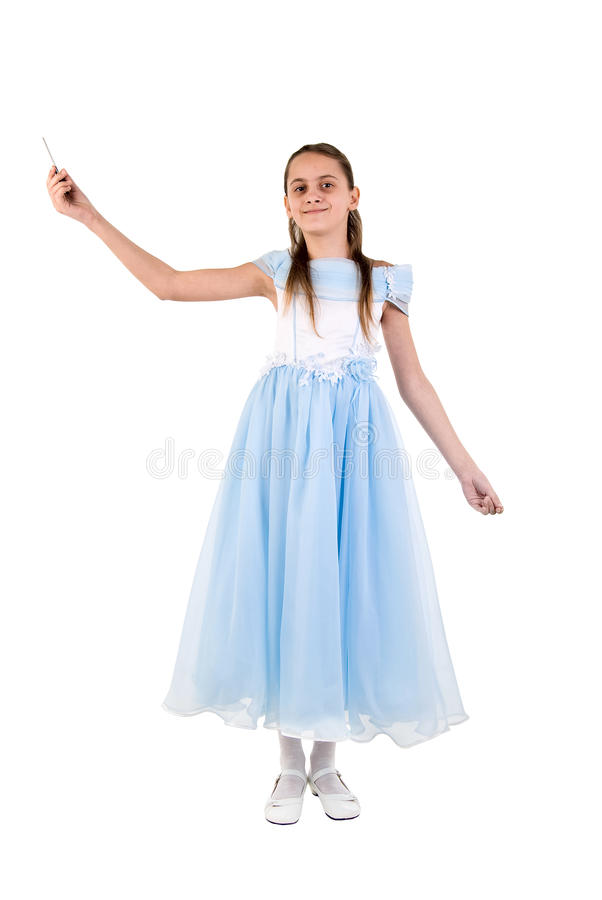 Beautiful Little Girl In A Fairy Costume. Royalty Free Stock Photography