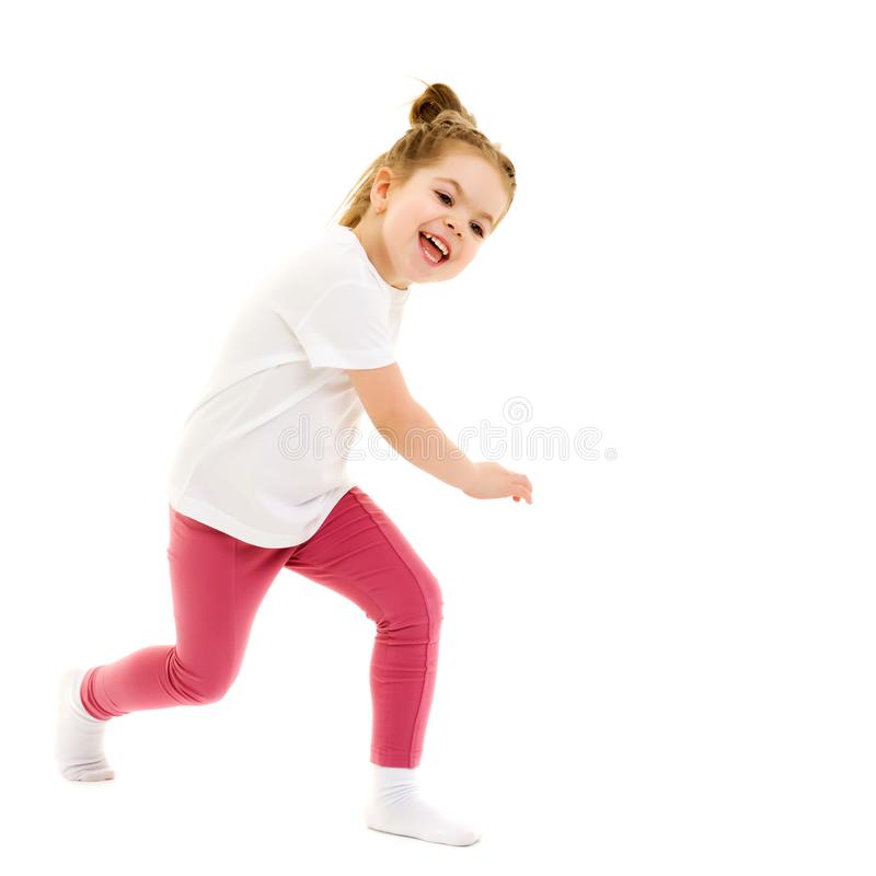 Free Beautiful Little Girl Laughing. Stock Images - 149358324