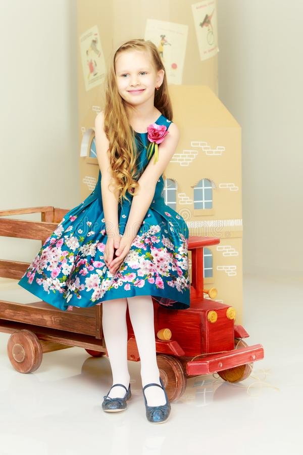 Beautiful little girl 5-6 years. royalty free stock photography