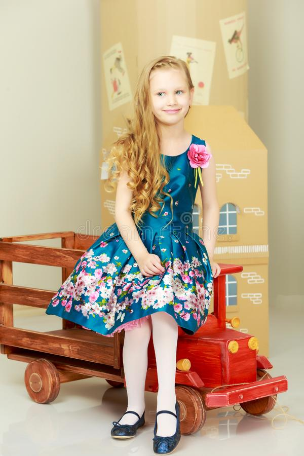 Beautiful little girl 5-6 years. royalty free stock photos