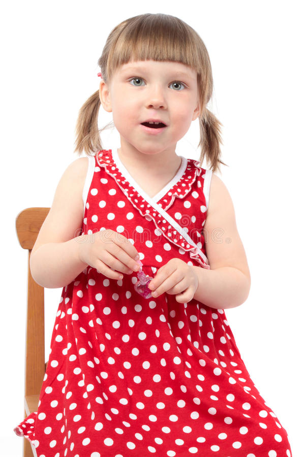 Download Beautiful Little Girl With Nail Polish Stock Image - Image: 14835391