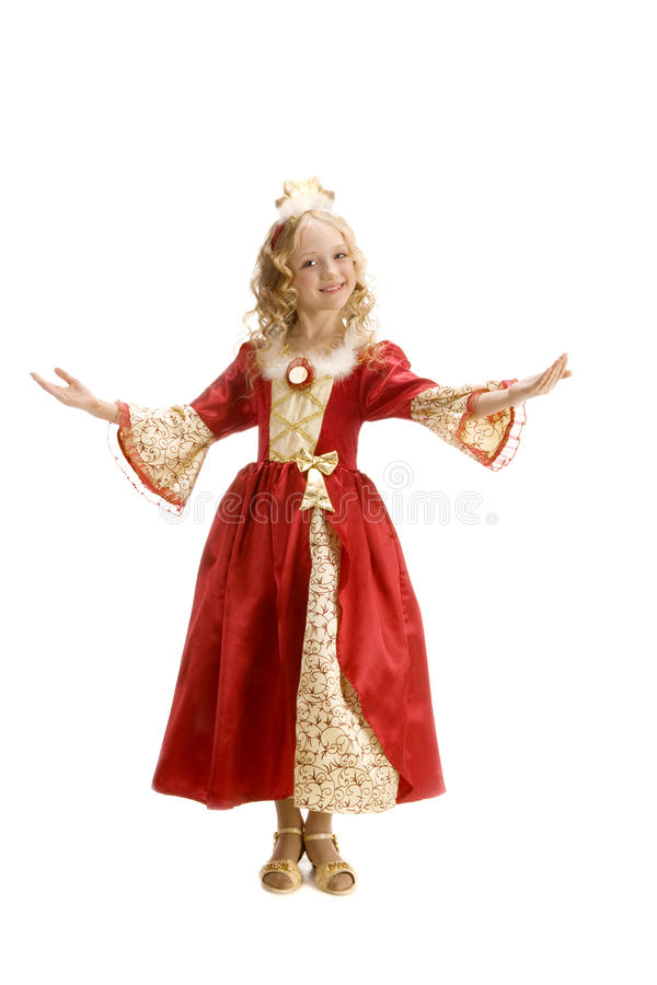 Download Beautiful Little Girl In The Princess Costume Welcomes Everybody Stock Photo - Image of color  sc 1 st  Dreamstime.com & Beautiful Little Girl In The Princess Costume Welcomes Everybody ...