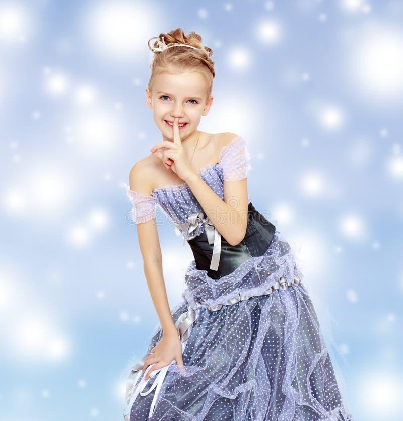 Beautiful little girl in Princess dress. stock photos