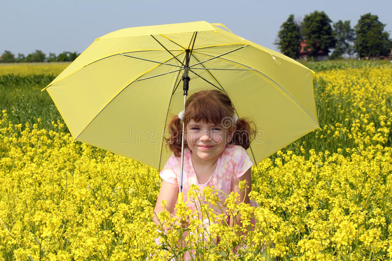 Download Beautiful Little Girl With Umbrella Stock Photo - Image: 25166410