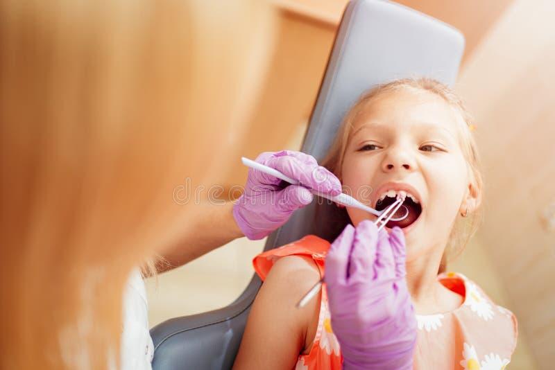 Little Girl At The Dentist stock image
