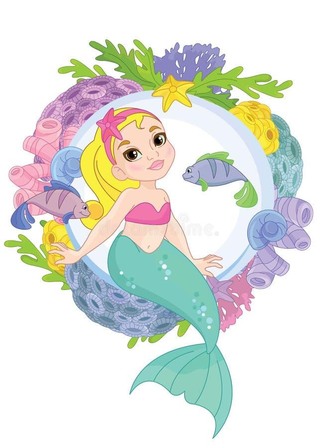 Beautiful Little  Mermaid Underwater world royalty free stock photo