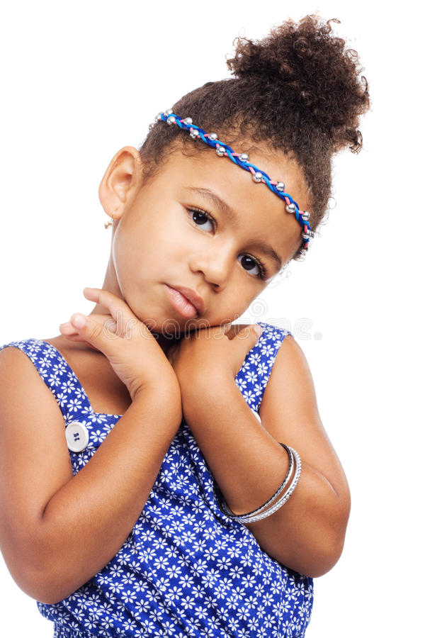 Beautiful little model in stylish clothing. Beautiful elegant little girl in stylish clothing stock photos