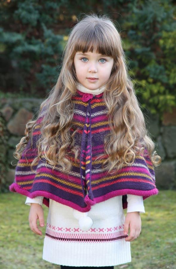 Beautiful little portrait of girl stock photo