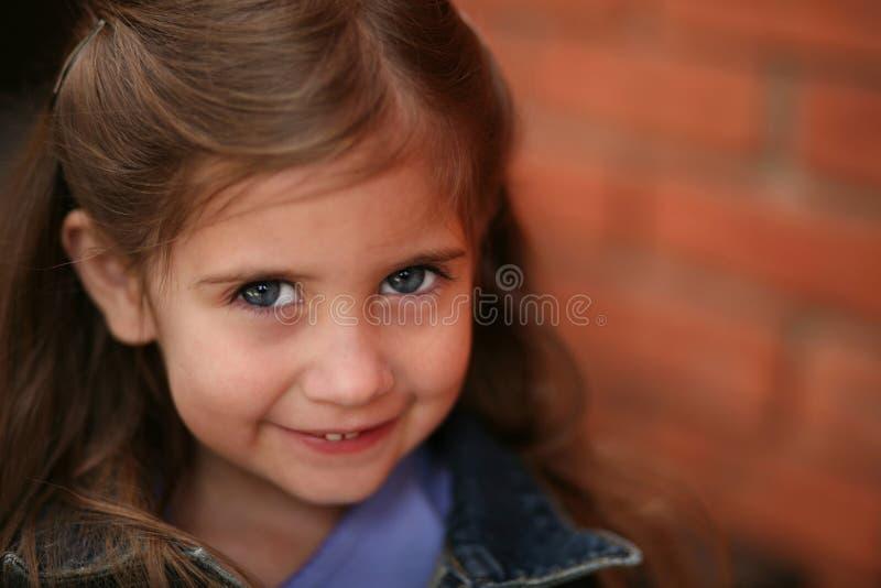 Beautiful little preschool girl stock image