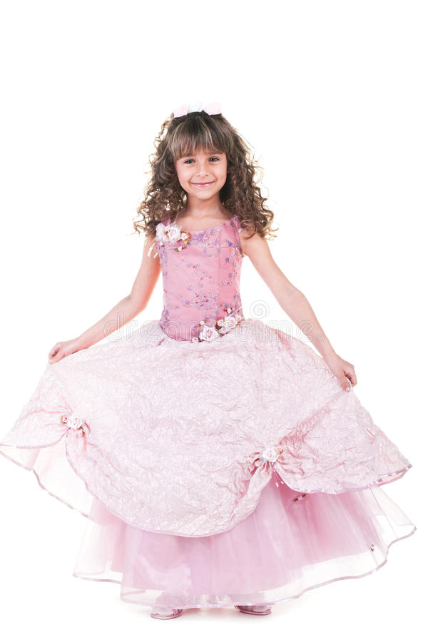 Beautiful Little Princess Dancing Royalty Free Stock Photography