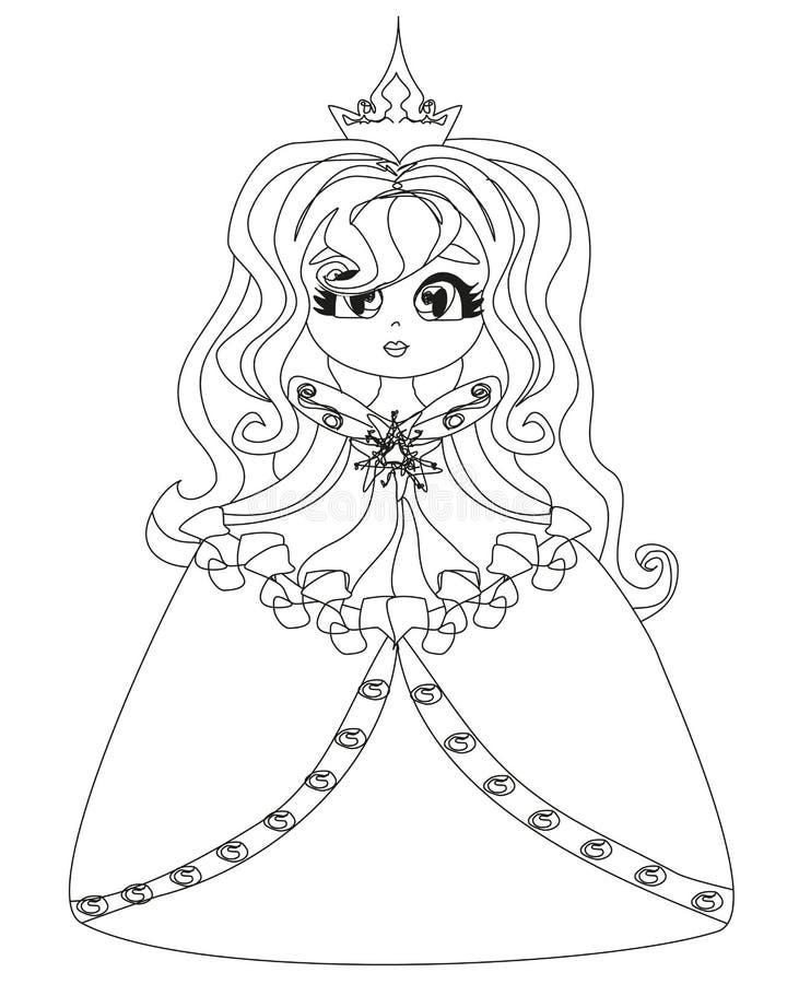 Beautiful little princess. Vector Illustration vector illustration
