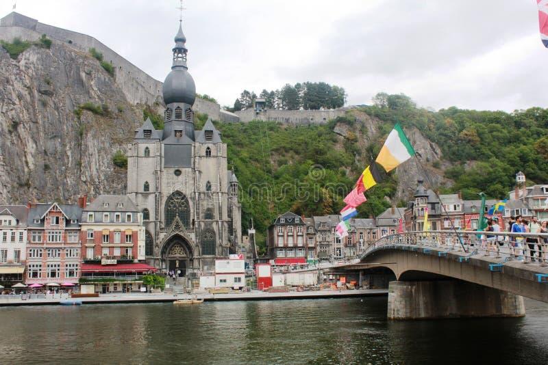Beautiful little town - Dinant, Belgium royalty free stock photos