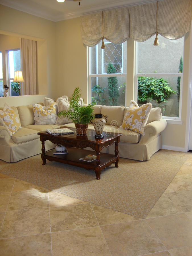 Download Beautiful Living Room stock photo. Image of tile, couch - 11096234