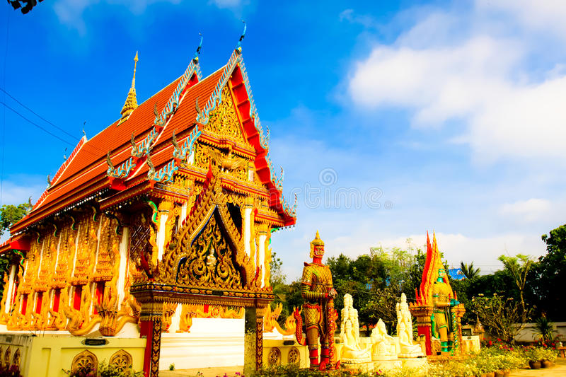 Beautiful local Thai temple architecture royalty free stock photography