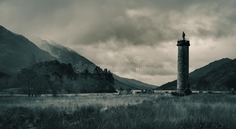 A beautiful loch located near Glenfinnan, famous for being used as the backdrop to most of the Harry Potter films royalty free stock photo