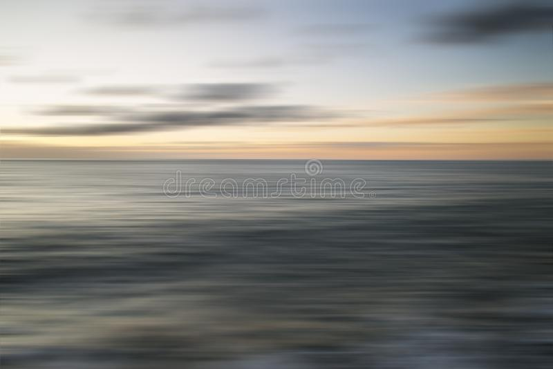 Beautiful long exposure vibrant sunset landscape image of Portla stock photography