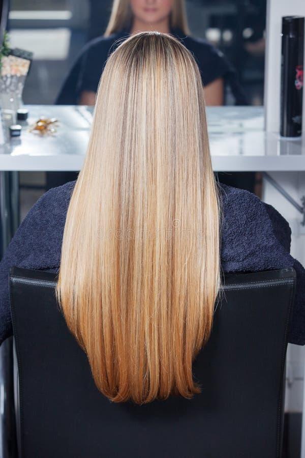 Beautiful long hair stock photo