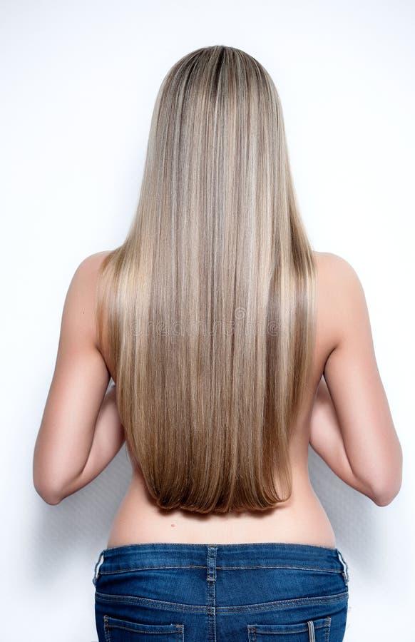 Beautiful long hair royalty free stock photo