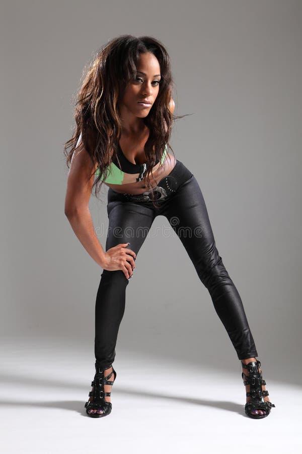 Beautiful Long Hair African American Model Stock Photo
