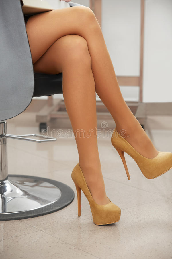 high heels on legs