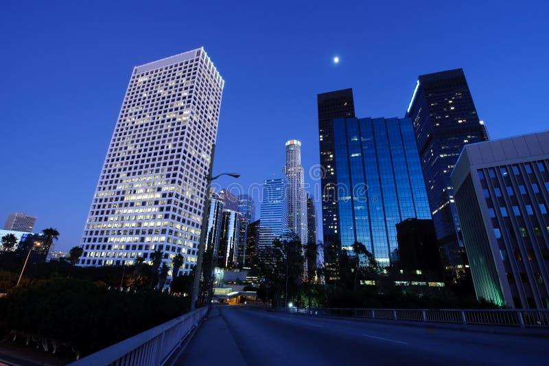 Beautiful Los Angeles under the moonlight