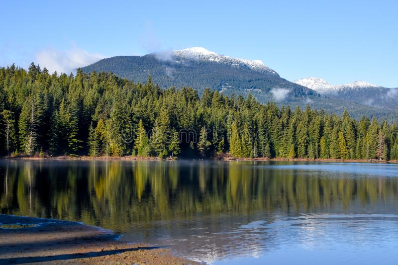 Lost Lake, Whistler, BC. Beautiful Lost Lake in Whistler, British Columbia, Canada stock photography