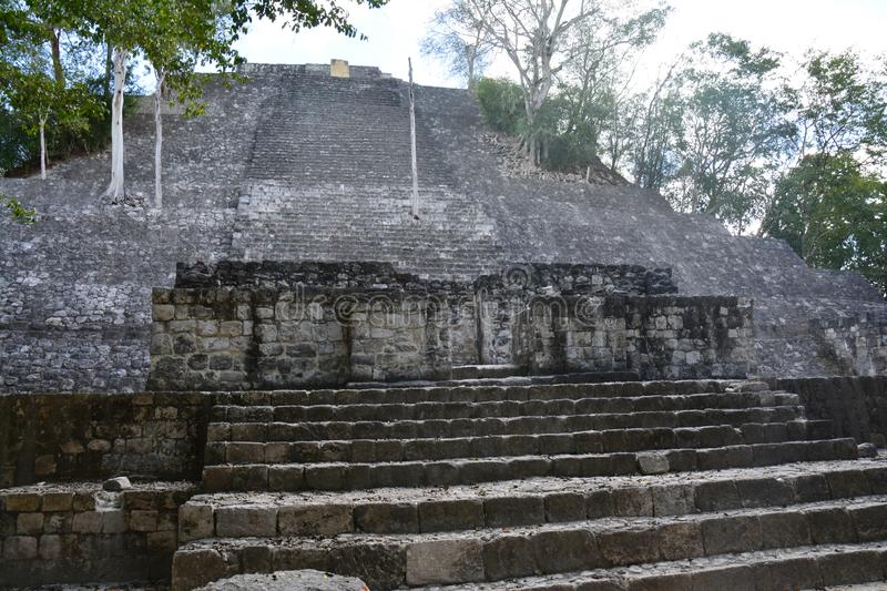 Calakmul Archaeological Site in Campeche Mexico stock image