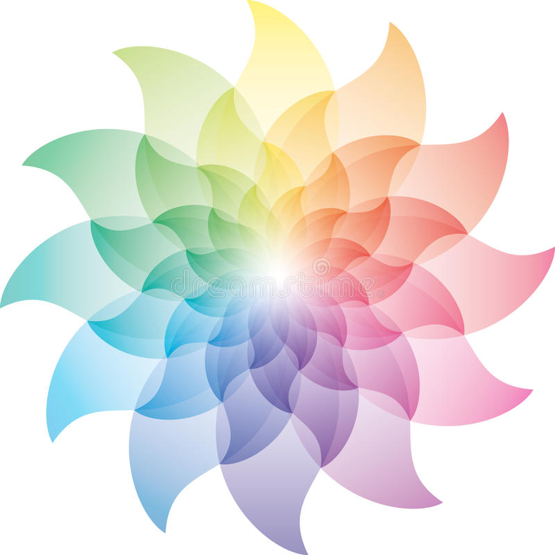 Download Beautiful Lotus Flower Color Wheel Icon Stock Vector