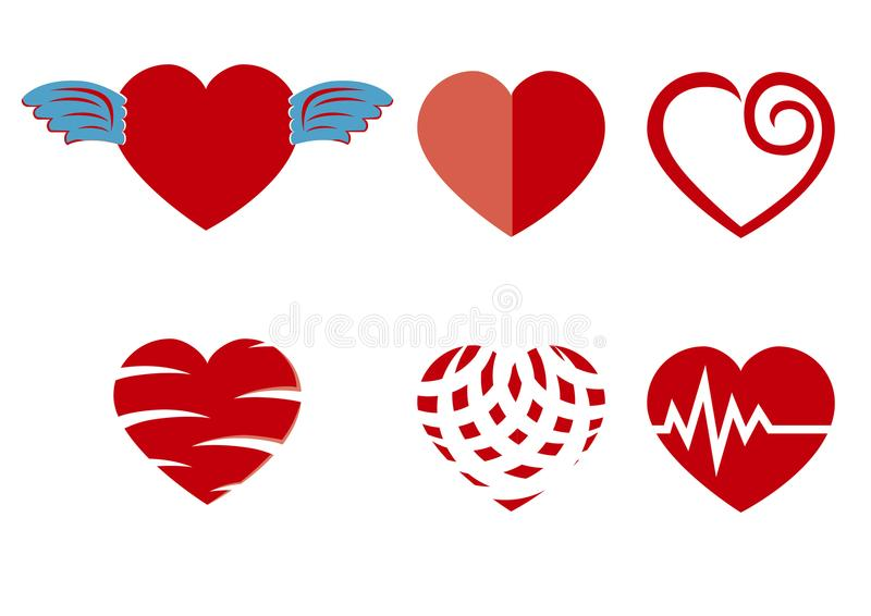 Beautiful love heart icon stock photo