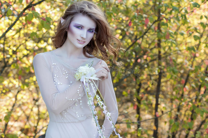 Beautiful lovely gentle graceful fairy royalty free stock images