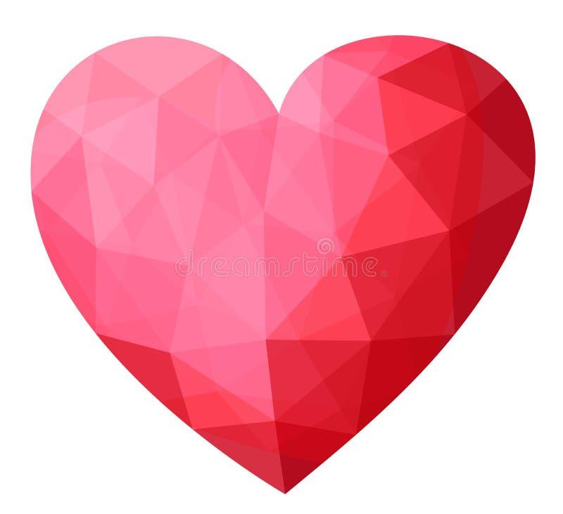 Crystal Gems Logo Icon: Beautiful Precious Crystal Heart Icon . Stock Vector