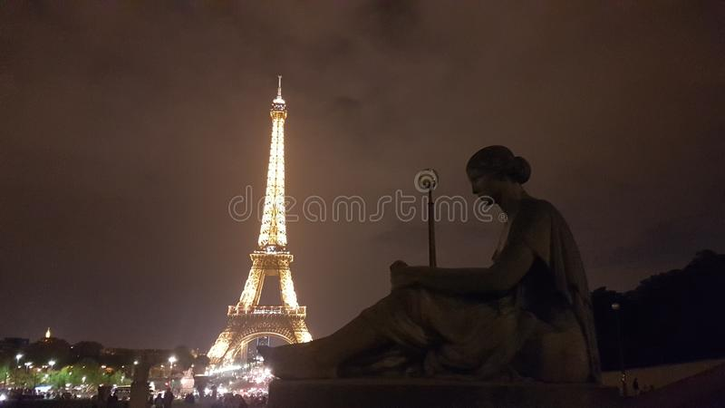 2 monuments, Eiffel and... royalty free stock photos