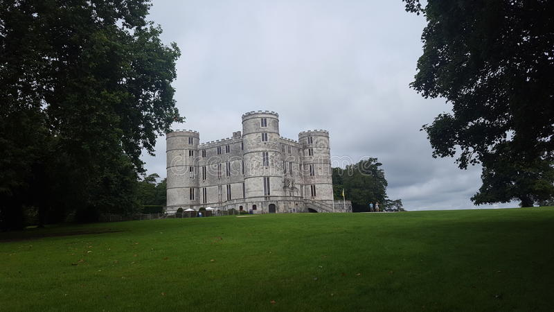 Beautiful Lulworth castle in dorest England stock photography