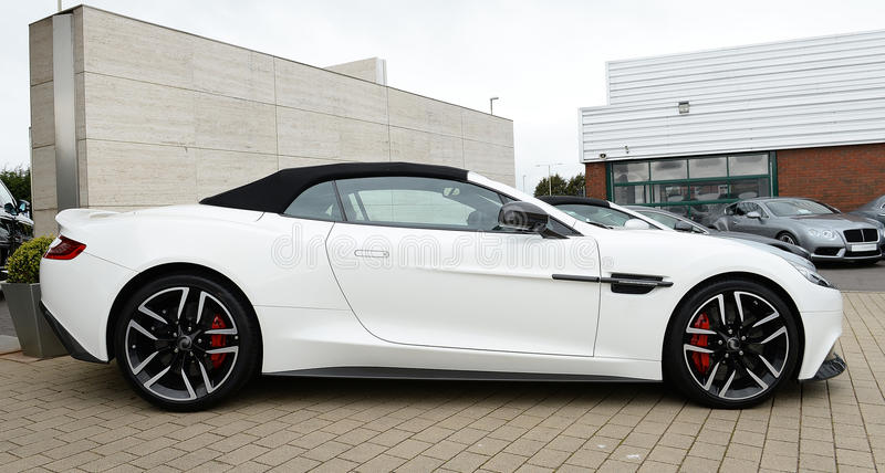Beautiful Aston Martin Vanqush Luxury sports Car royalty free stock photography