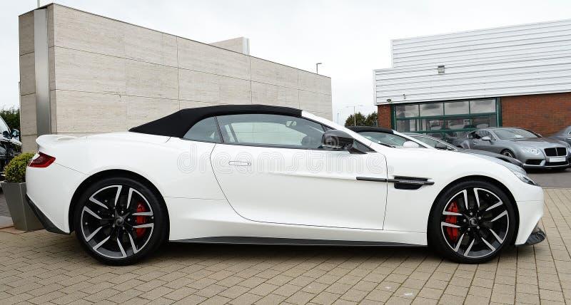 Beautiful Aston Martin Vanqush Luxury sports Car. A brand new Aston Martin Vanqush luxury sports car royalty free stock photography