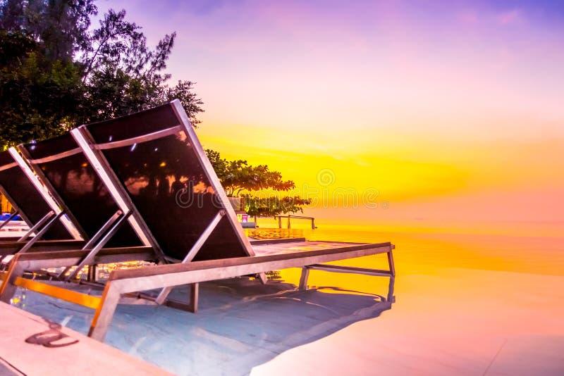 Beautiful luxury hotel swimming pool resort stock image