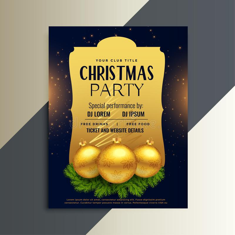 Beautiful luxury party flyer for christmas festival vector illustration
