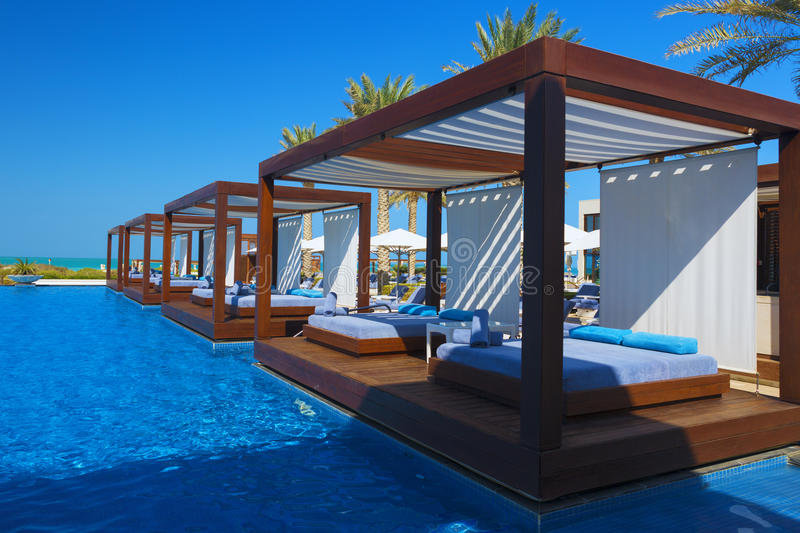Beautiful luxury place resort and spa. For vacations stock photo