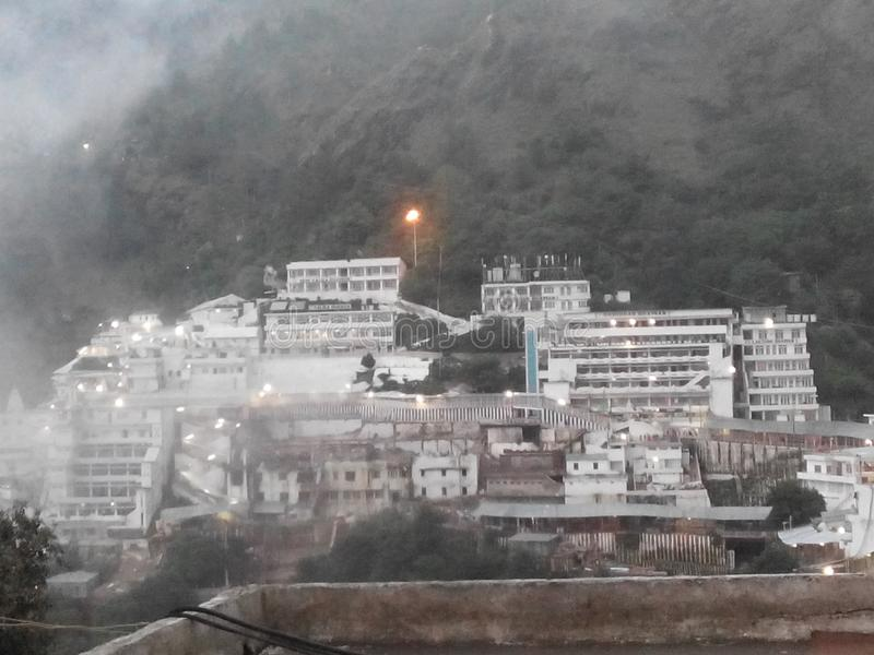 A beautiful maa vaishno Devi temple stock image