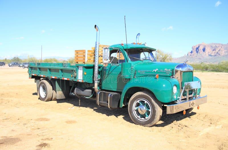 Classic American Truck: Mack B-61 (1961) royalty free stock photography
